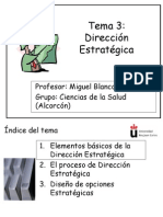 Tema 3 Direccion Estrategica
