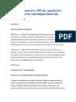 Decreto Supremo 420 de regulación del transporte interdepartamental