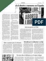 Es constitucional el aborto a menores en España