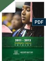 MVSU_GraduateCatalog2011-2012