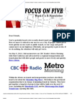 Are We Facing Economic Gridlock_ - Bonnie Crombie's 'Focus on Five' E-Newsletter (May 13-27th)