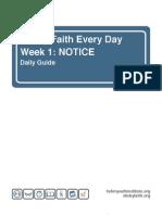 Sticky Faith Daily Guides