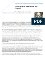 Michel Foucault- El Triunfo Social Del Placer Sexual Una Conversacin Con M Foucault