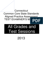 Connecticut Ccss Aligned Practice Test Tem 4-11-2013 Revised