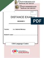 1st Distance Exam Beg 2
