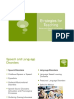 Strategies for Speech & Language Disorders