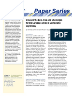 Crises in the Euro Area and Challenges for the European Union's Democratic Legitimacy