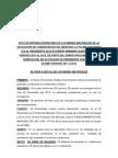 ACTA DE ENTREGA INVENTARIO DE LOS BIENES MATERIALES DE LA ASOCIACIÓN DE COMERCIANTES DEL MERCADO LA PALMA SAN ISIDRO ICA AL PRESIDENTE ELECTO SEÑOR ARMANDO QUISPE LUQUE