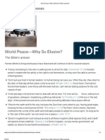 World Peace—Why So Elusive_Bible Questions