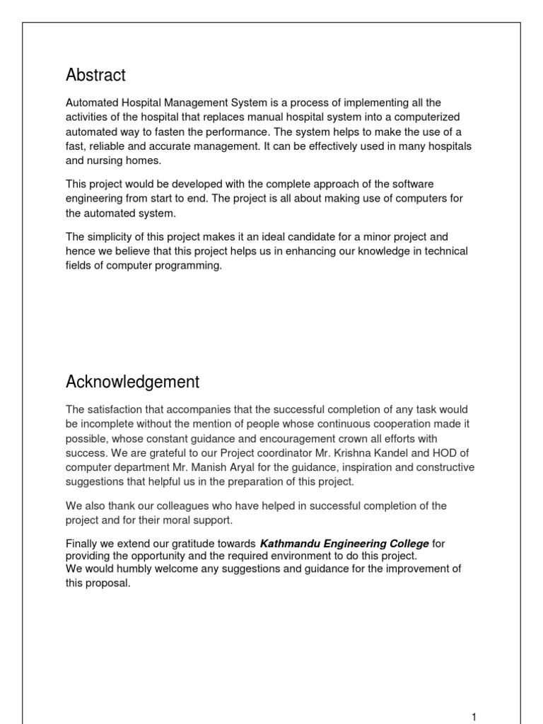 Proposal - Hospital MS   Usability   Feasibility Study