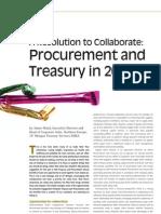 Procurement and Treasury in 2013