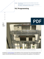 Basic Steps in PLC Programming