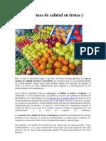 Nuevas Normas de Calidad en Frutas y Hortalizas