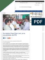 17-02-2013 Se registra Pepe Elías Leal, ya es precandidato del PRI