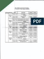 Jadwal kuliah-Lembar 1