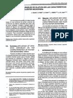Variables de Hilatura Poliester Microfibra