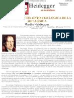 17859984 Heidegger La Constitucion Ontoteologica de La Metafisica