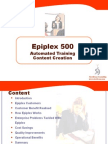Epiplex Detailed Introduction For Process Training Creation