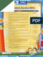 Calendar i o Escola r 2013