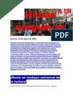 Noticias Uruguayas Martes 14 de Mayo Del 2013