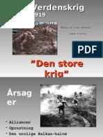 Første verdenskrig version