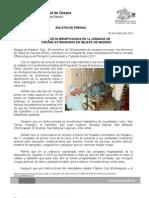 02/03/11 Germán Tenorio Vasconcelos MÁS DE 60 BENEFICIADOS EN PRIMERA JORNADA DE CIRUGÍA EXTRAMUROS EN NEJAPA