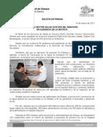 14/03/11 Germán Tenorio Vasconcelos OTORGÓ SECTOR SALUD CASI DOS MIL SERVICIOS EN AUDIENCIA DE LA MIXTECA