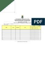 Ficha de Inscrição Natação