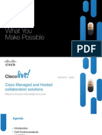 Cisco Managed and Hosted Collaboration Solutions - BRKSPG-2685