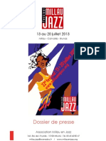 Millau Jazz 2013 press release