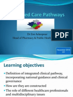 Lecture 9 - Integrated Care Pathways Nov 2010