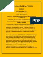 1.- LA VALORACIÒN DE LA PRUEBA EN LOS JUICIOS ORALES