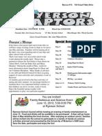 Ryerson May 2013 news