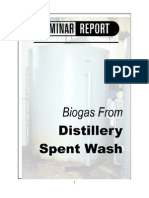Bio Gas From Distillery Spent Wash
