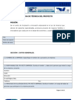 FICHA DE TÉCNICA DEL PROYECTO