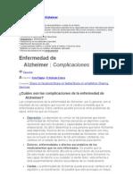 Complicaciones Del Alzheimer