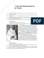 Gandhi's 10 Fundamentals for Change