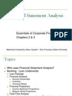 1 Financial Statement Analysis