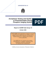 Aapm Report Qc in Cr