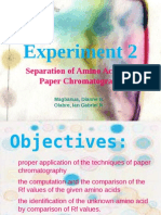 separation of amino acids by paper chromatography