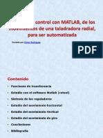 Control Con Matlab de Taladrora Radial