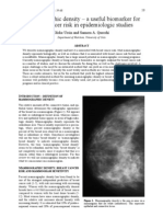 Mammographic density – a useful biomarker for breast cancer risk in epidemiologic studies