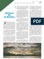 Sobre la Batalla de Almansa