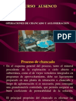 Operaciones de Chancado y Aglomeracion