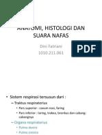 Anatomi, Histologi Dan Suara Nafas - Copy