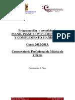 Progamacion Oficial de La Asignatura Piano 2007 08