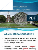 High Capacity Image Steganography