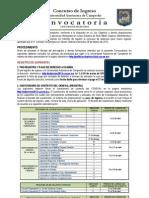 Convocatoria de Nuevo Ingreso 2013-2014 UAC