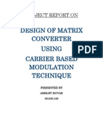 Design of Matrix Converter using Carrier Based Modulation Technique