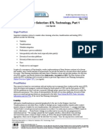 Evaluating ETL Technology Part 1